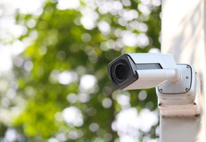 Cctv,Tool,On,Blue,Sky,Background,equipment,For,Security,Systems,And