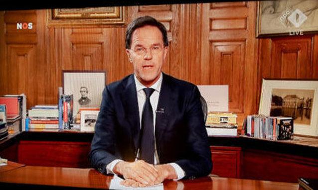 Premier Rutte spreekt land toe over coronavirus