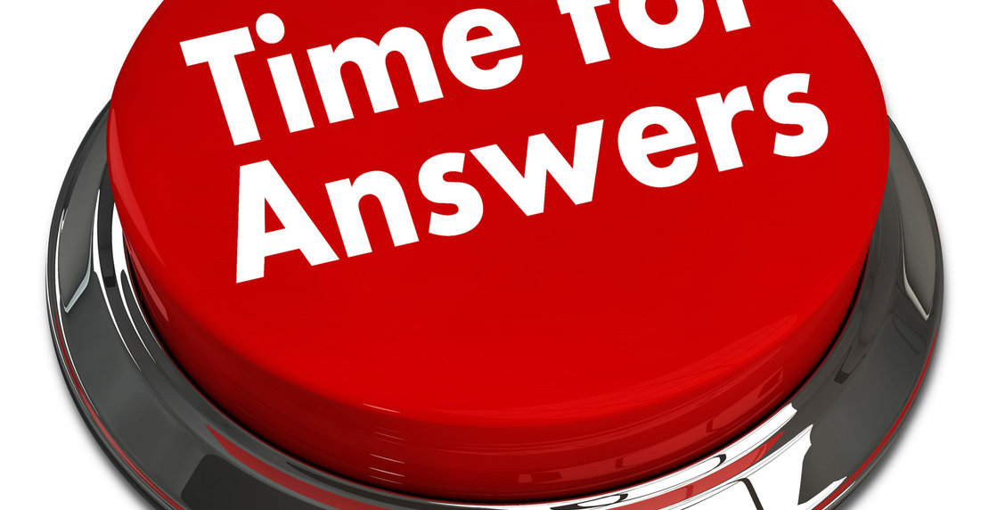"""3d red push button """" time for answers """""""